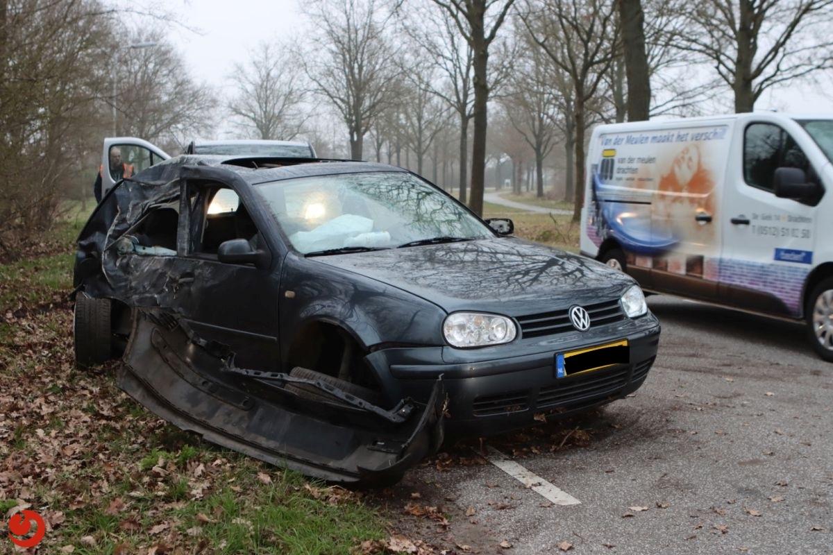 Man gewond bij eenzijdig ongeval.