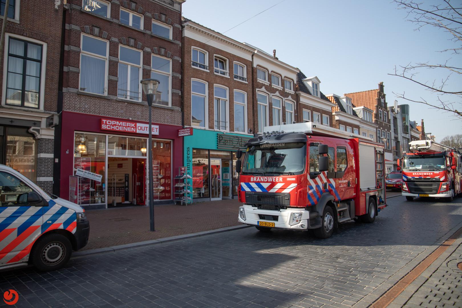 Brandmelding in schoenenwinkel