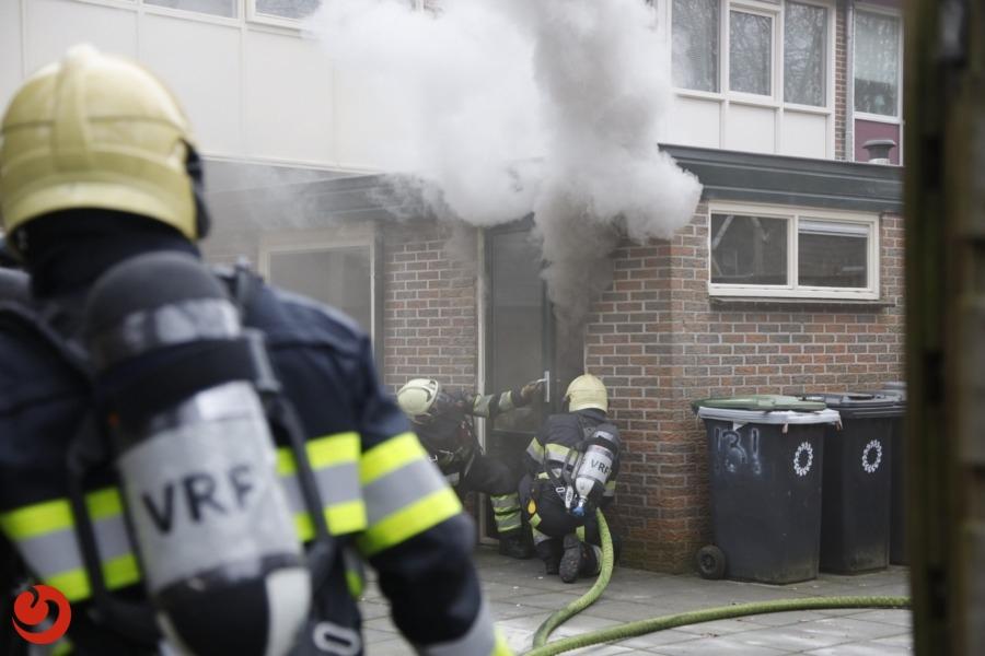 Veel rookontwikkeling door brand in keuken