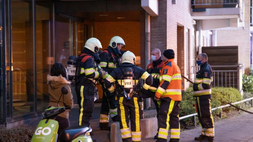 Kelderbrand in appartementencomplex