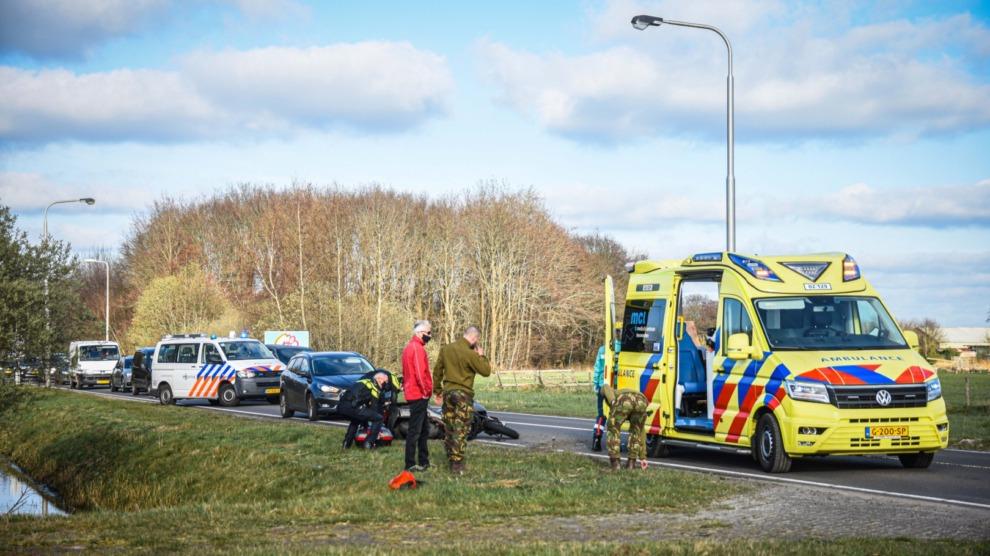 Motorrijder gewond door aanrijding met auto