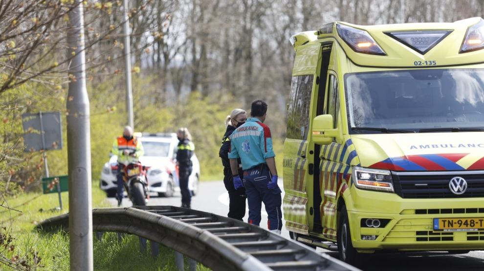 Motorrijder gewond bij ongeval op klaverblad