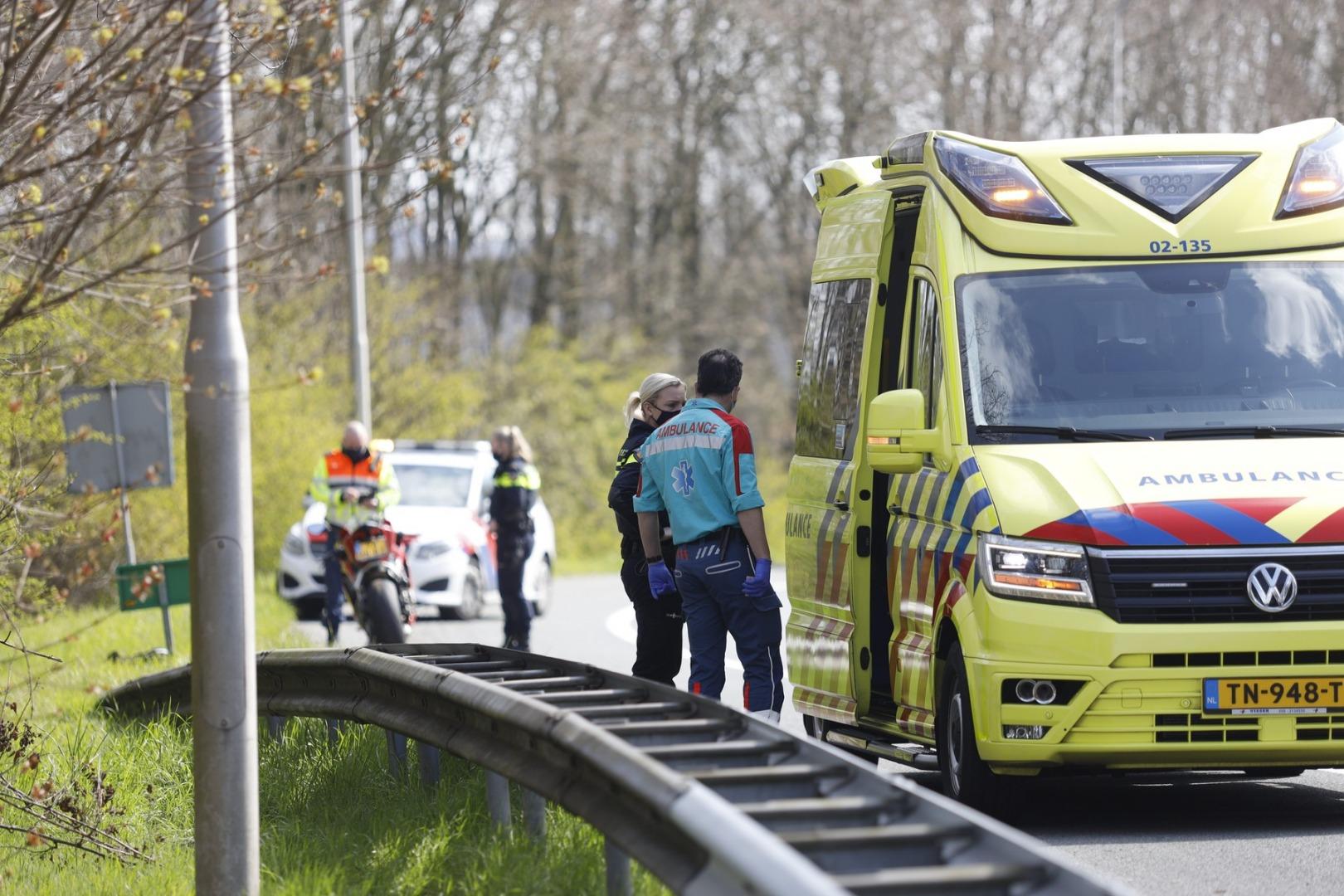 Motorrijder gewond bij ongeval op klaverblad.