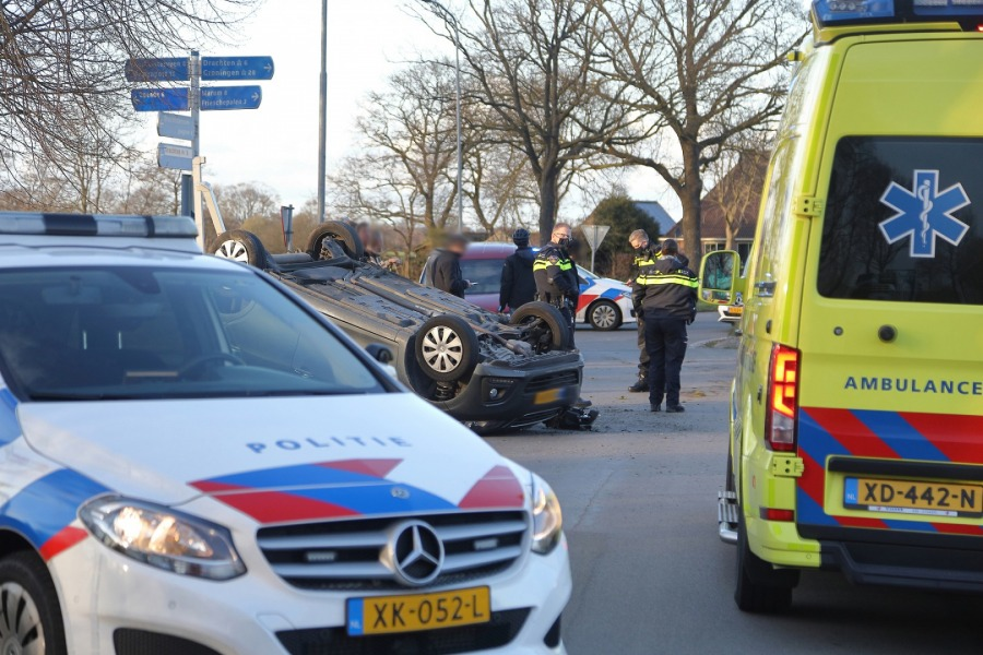 Bestuurder aangehouden na ongeval
