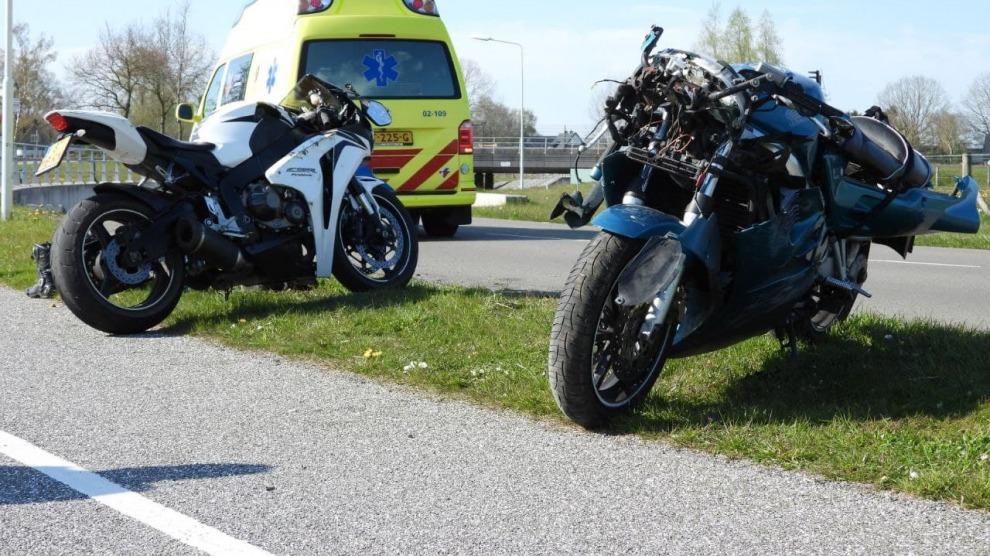 Motorrijders gewond bij valpartijen