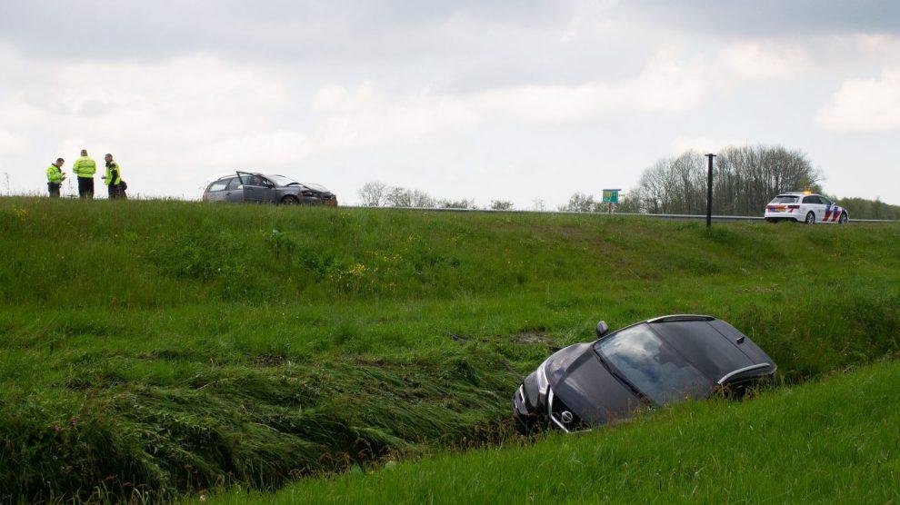 Ongeval op Sintrale As De Falom na plaatselijke hagelbui