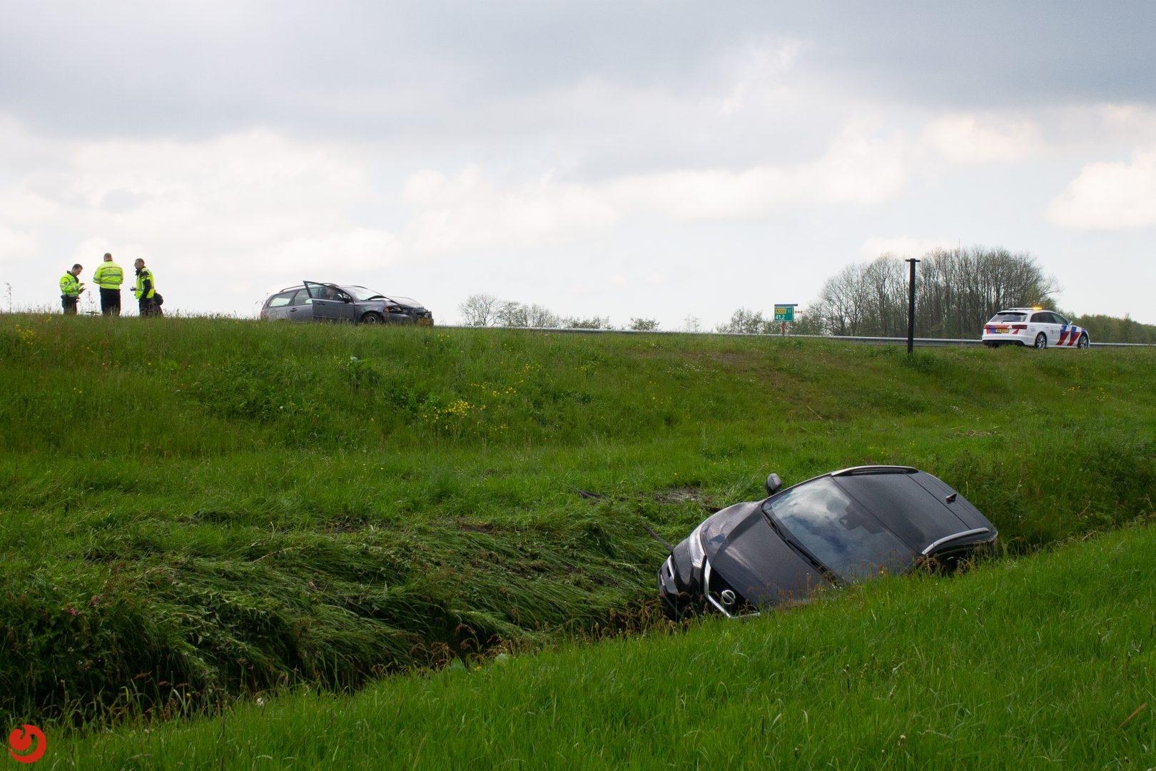 Ongeval op Sintrale As De Falom na plaatselijke hagelbui.