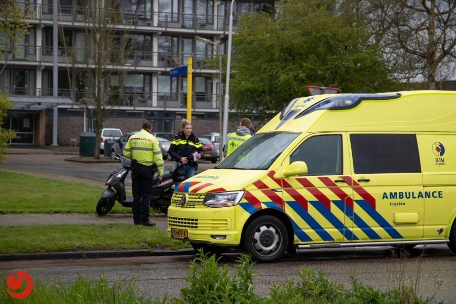 Scooterrijder gewond bij botsing met auto