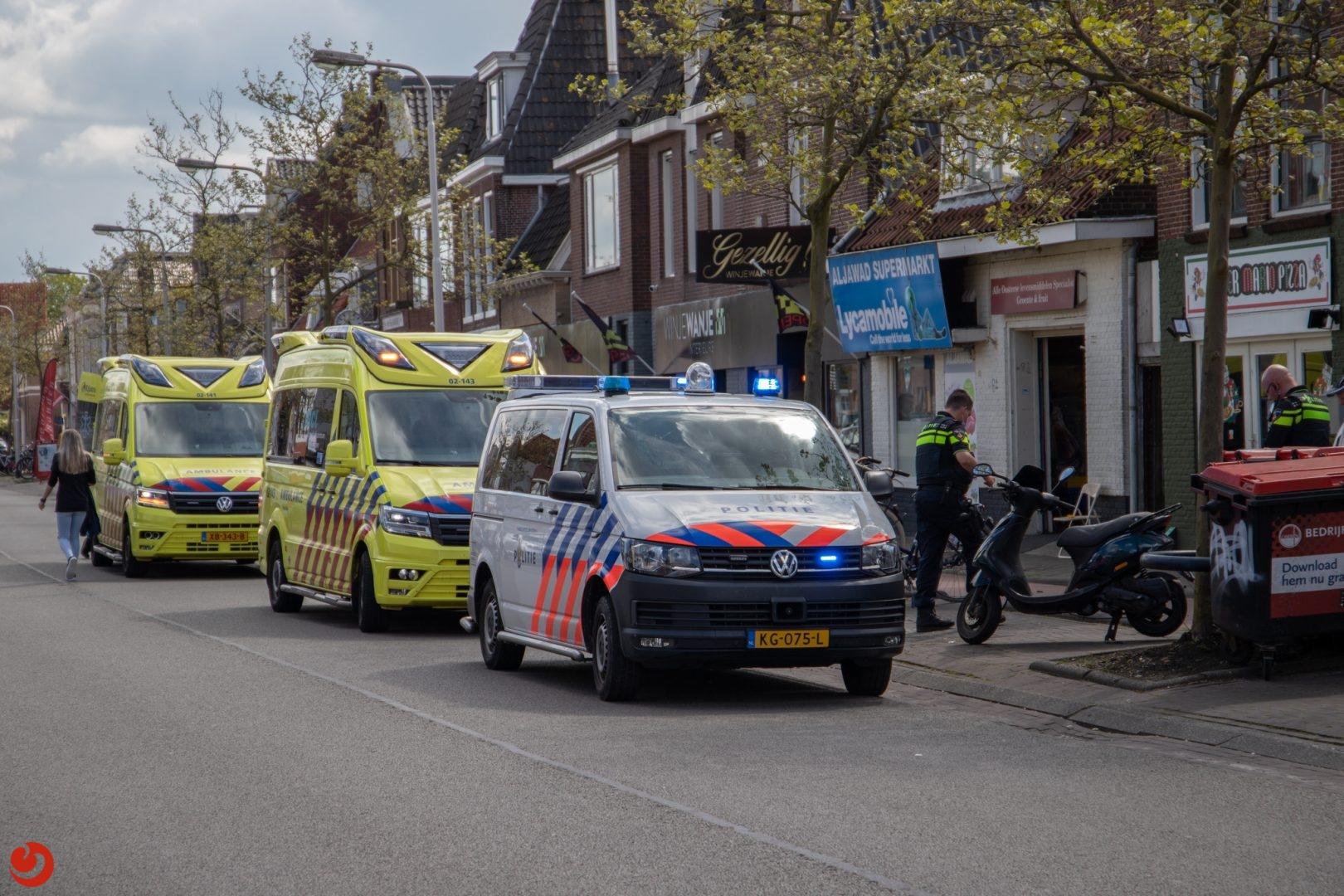 Twee gewonden bij ongeval met scooter in Leeuwarden.