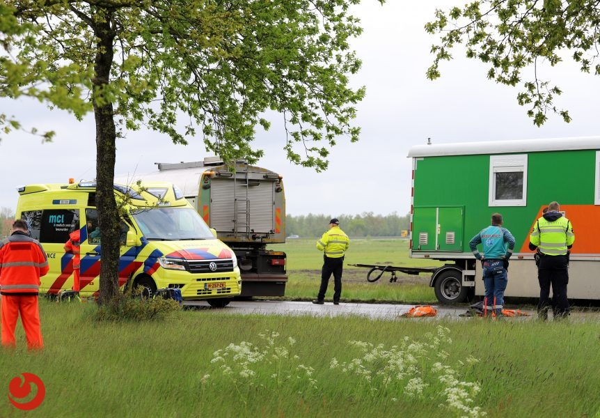 Wegwerker ernstig gewond bij ongeval Garyp