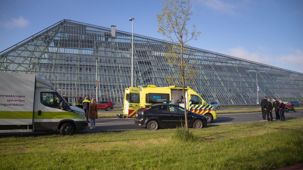 Motorrijder gaat onderuit en raakt gewond in Leeuwarden