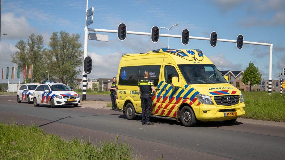 Fietser gewond na aanrijding met busje in Leeuwarden