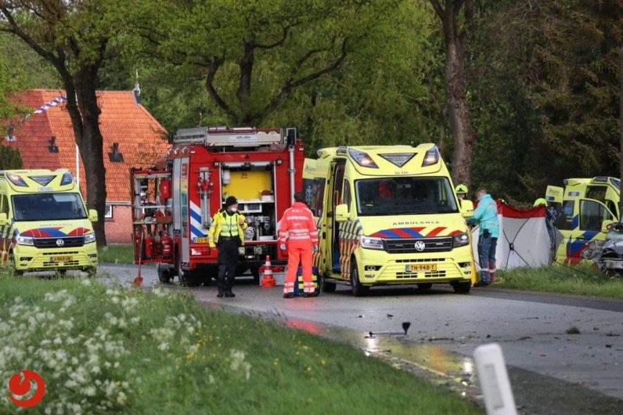 Dode en twee zwaargewonden bij ernstig ongeval in Siegerswoude