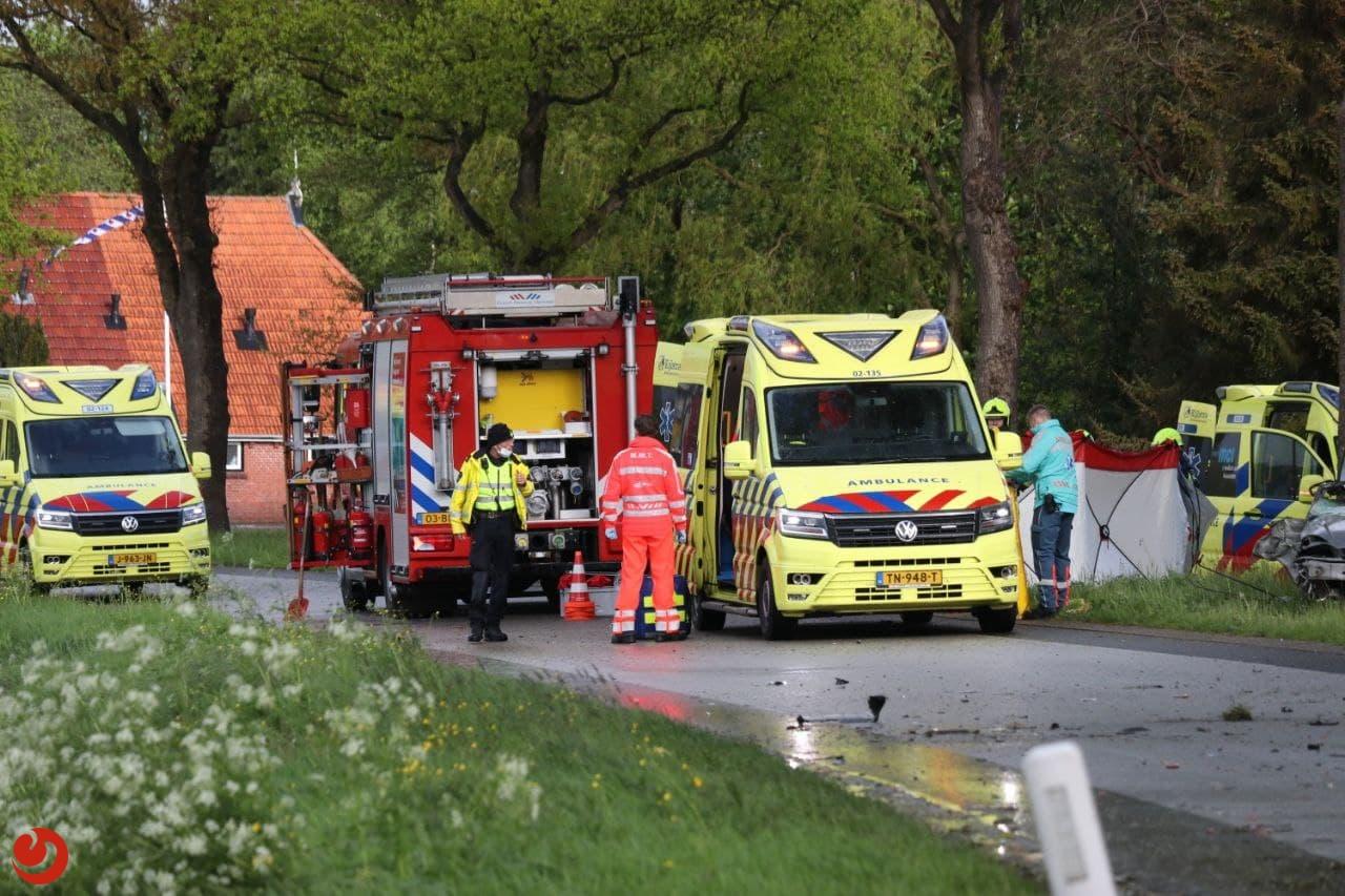 Dode en twee zwaargewonden bij ernstig ongeval in Siegerswoude.
