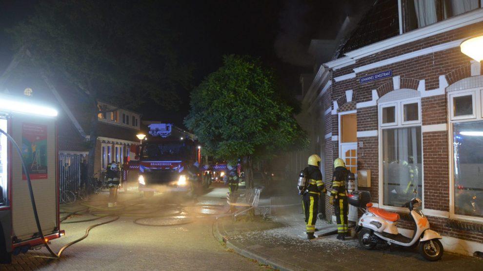 Verdachte aangehouden na woningbrand in Leeuwarden
