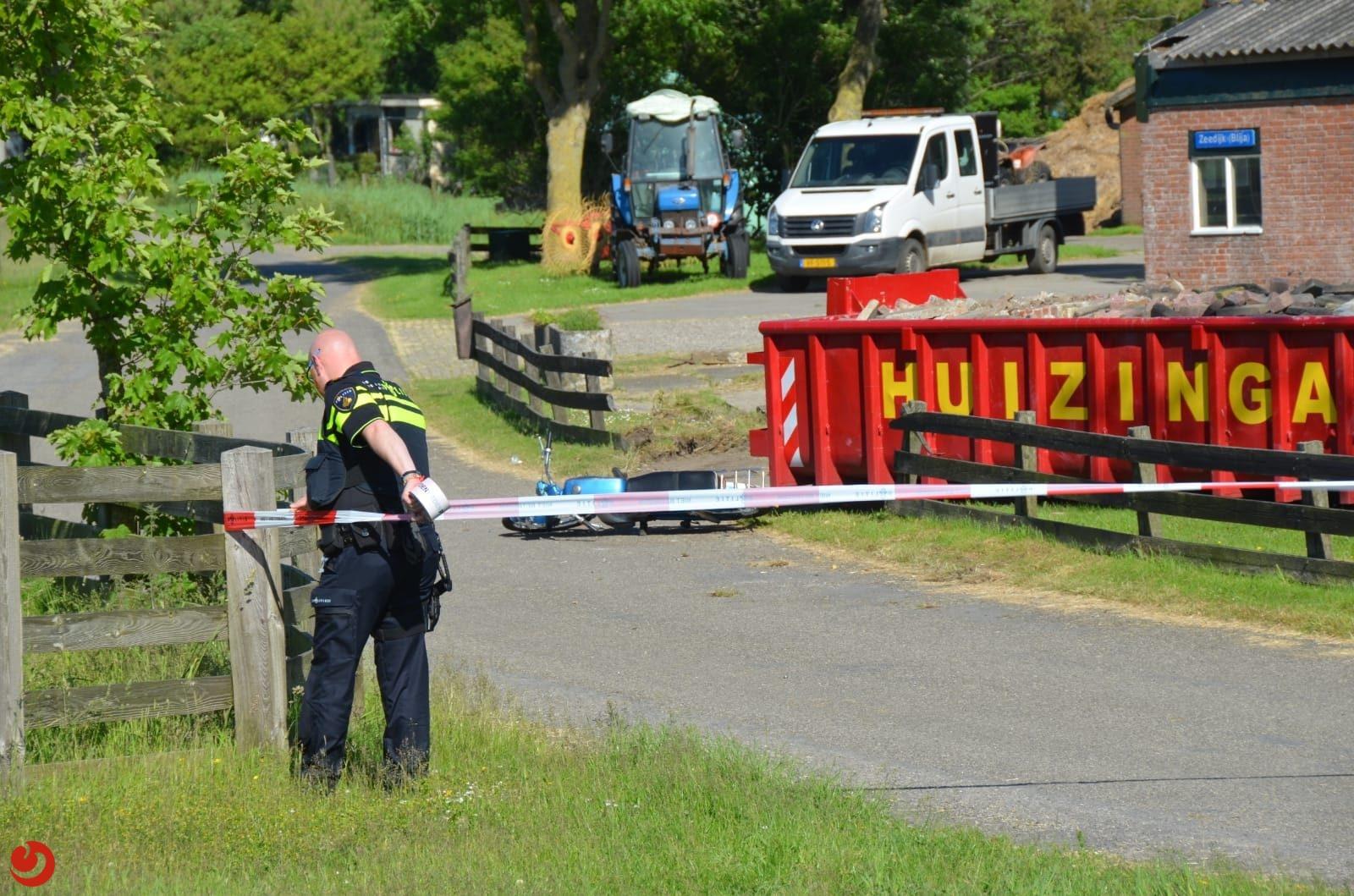 Bromfietser gewond bij eenzijdig ongeval in Blije.