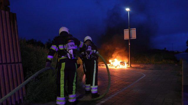 Scooter in brand gestoken Drachten