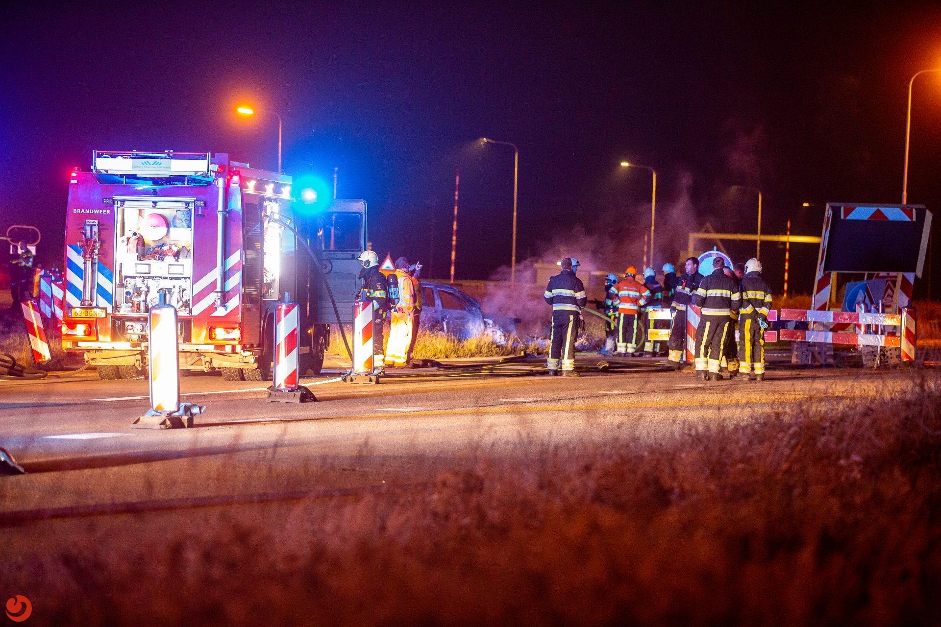 Persoon zwaargewond bij botsing met pijlwagen Kornwerderzand
