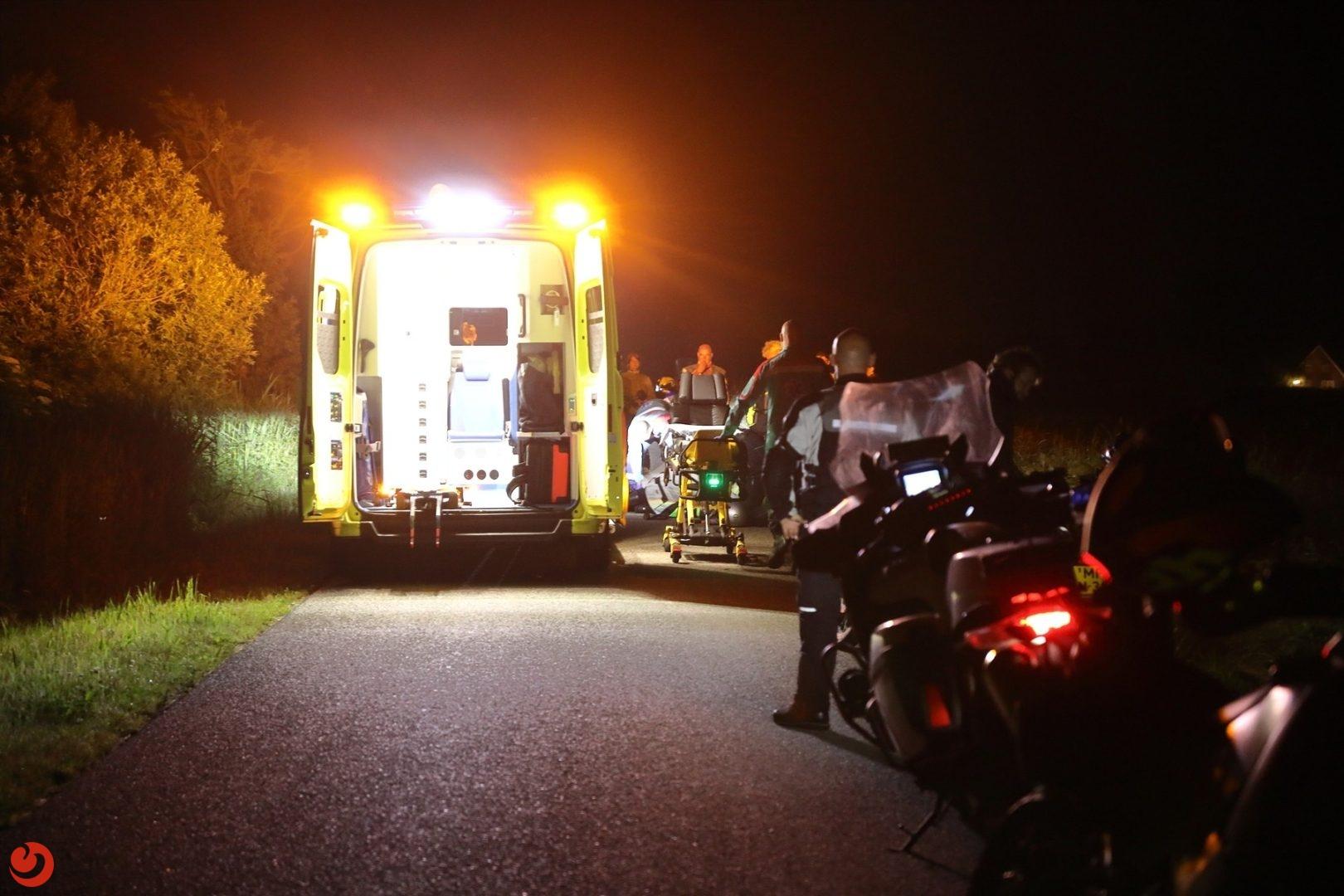 Motorrijders in botsing in Earnewald; één gewonde