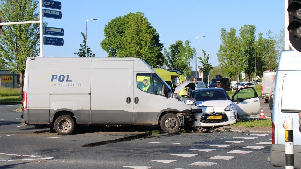 Veel vertraging op rondweg Leeuwarden door ongeval