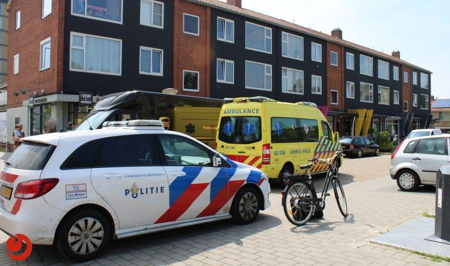Fietser in botsing met bestelbusje in Leeuwarden