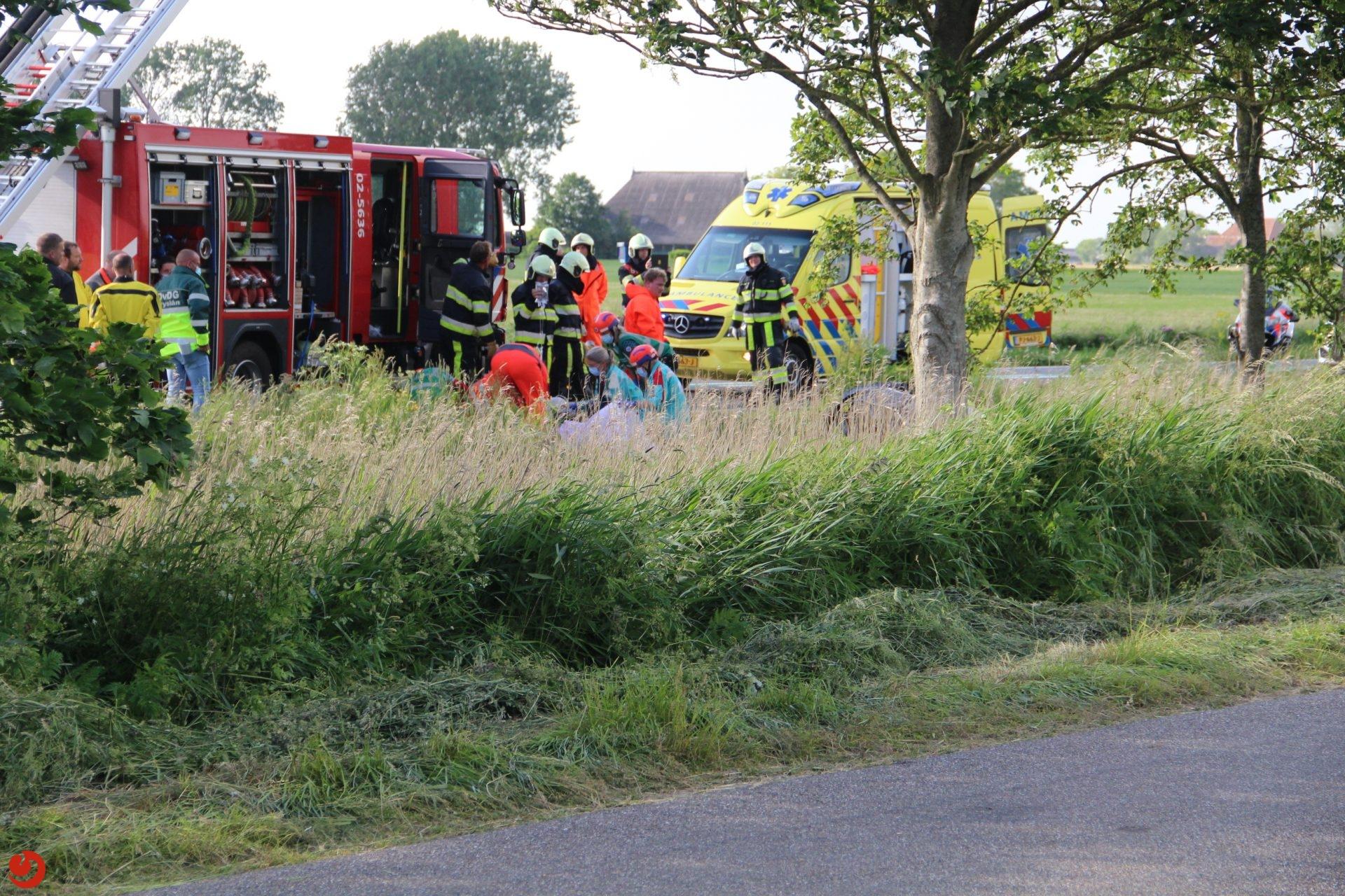 Twee gewonden bij ernstig ongeval N359 Parrega.