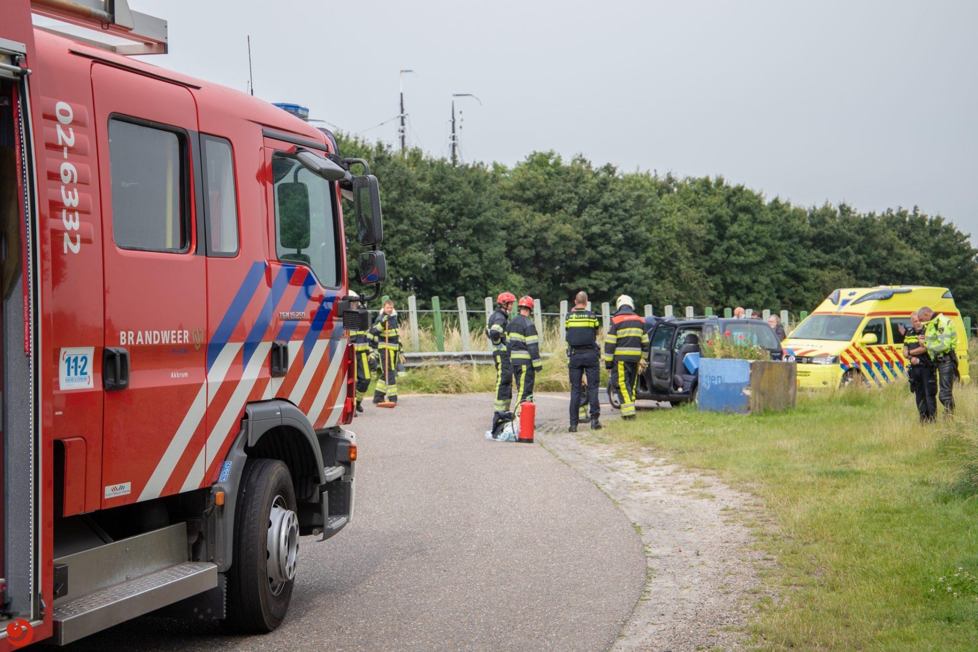 Hulpdiensten ingezet voor eenzijdig ongeval in Akkrum