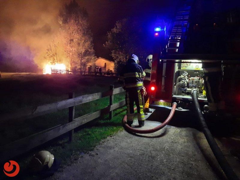 Hok verwoest door felle brand in Vrouwenparochie