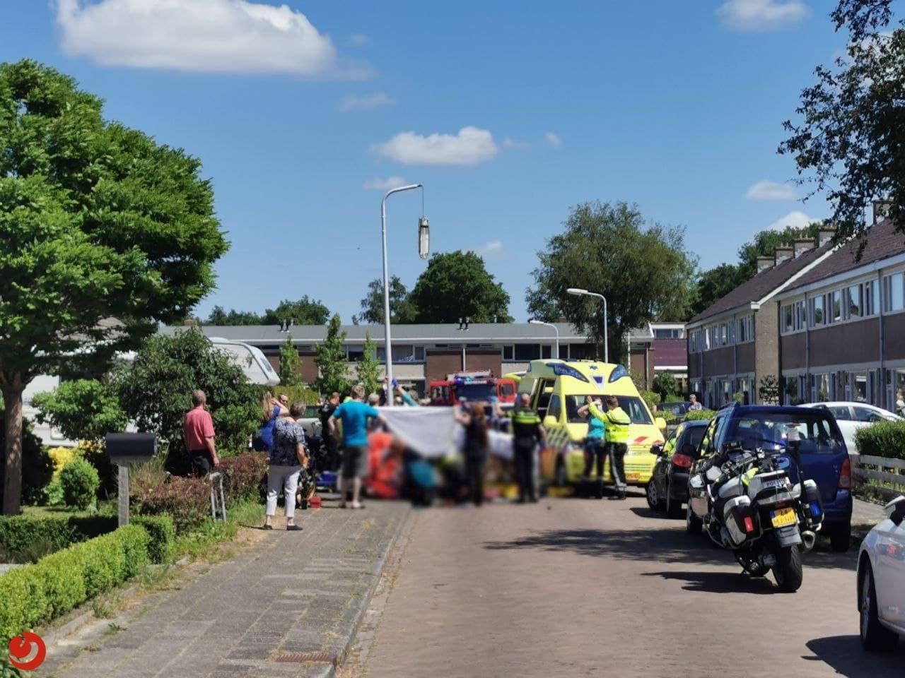 Motorrijder ernstig gewond na ongeval in woonwijk Drogeham.