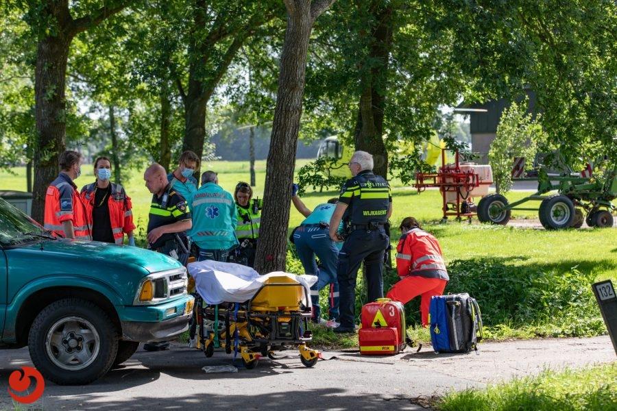 Bromfietser gewond bij ongeval in Boijl