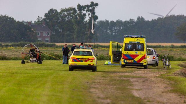 Hulpdiensten groots gealarmeerd voor paraglider in nood bij Witmarsum