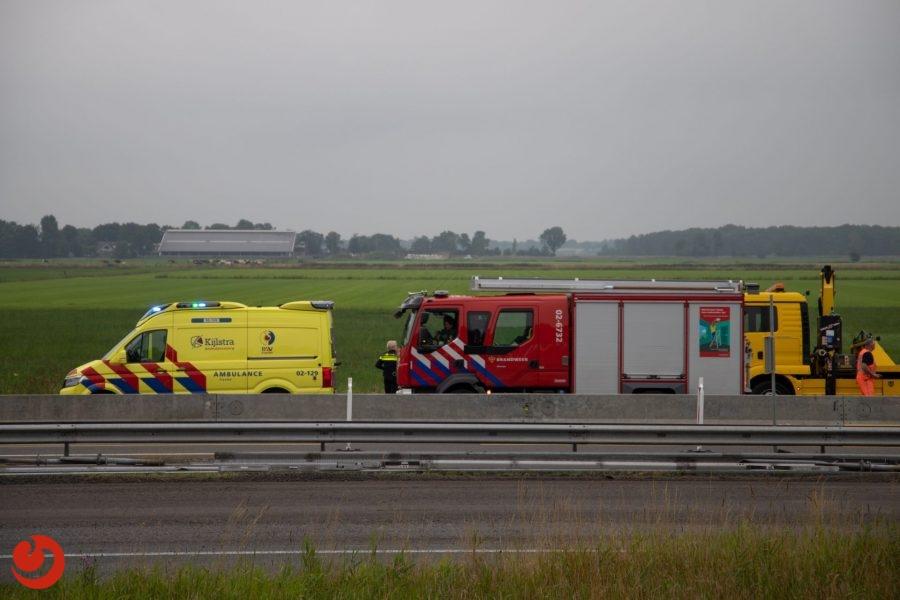 Zwaargewonde bij eenzijdig ongeval A32 Oldeholtwolde
