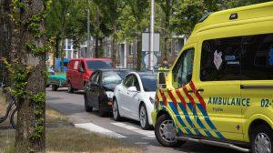 Flinke verkeershinder door kop-staartbotsing in Leeuwarden