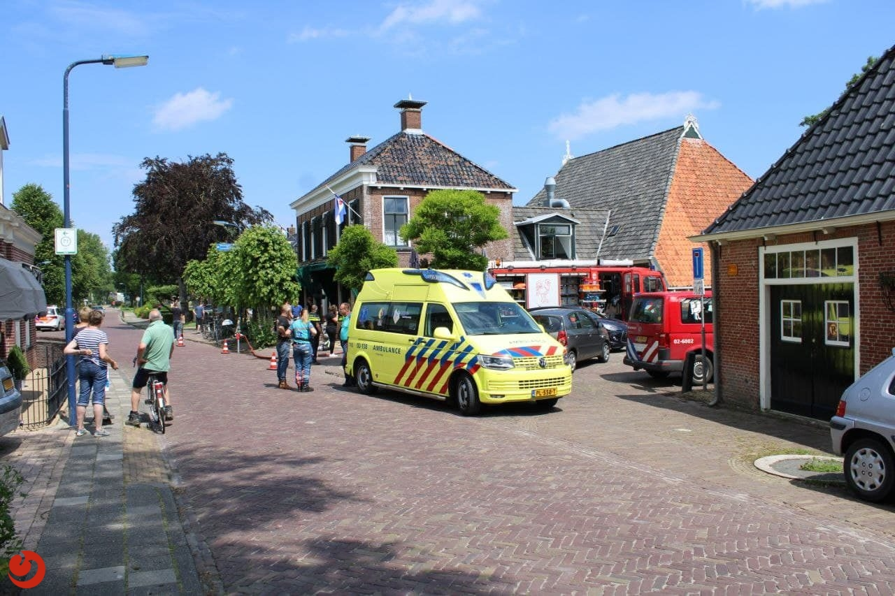 Brand in café Easterein snel onder controle