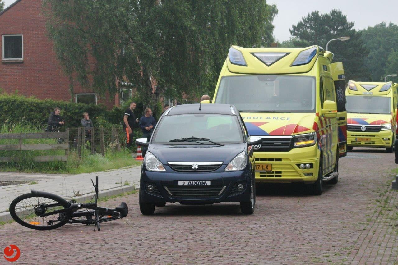 Fietser gewond na aanrijding met brommobiel in Damwâld