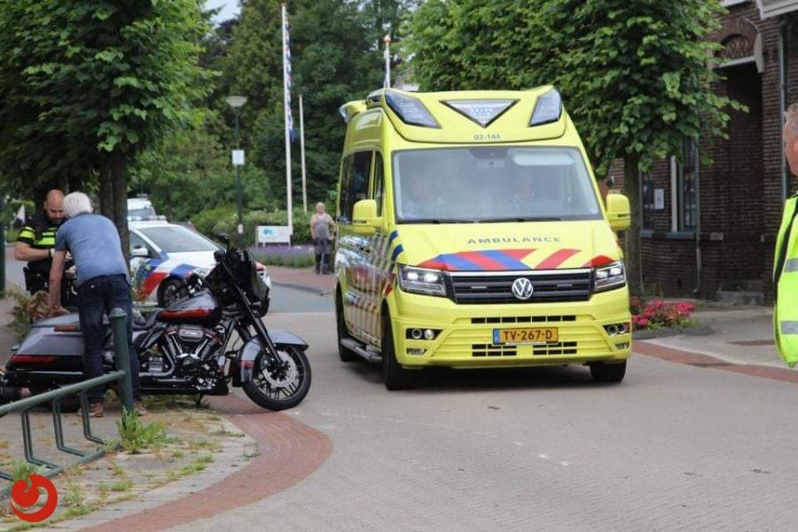 Motorrijder gewond bij aanrijding in Lippenhuizen