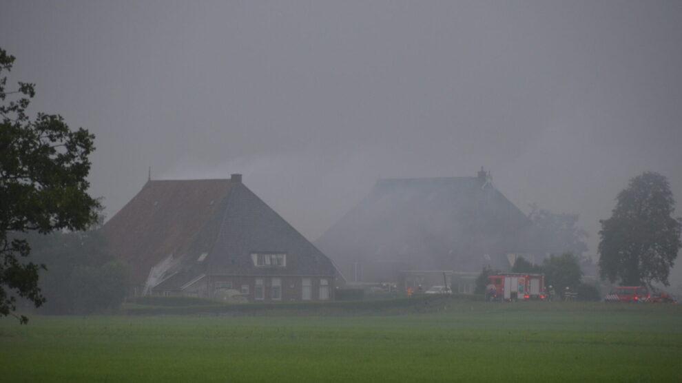 Brand in boerderij Friens snel geblust