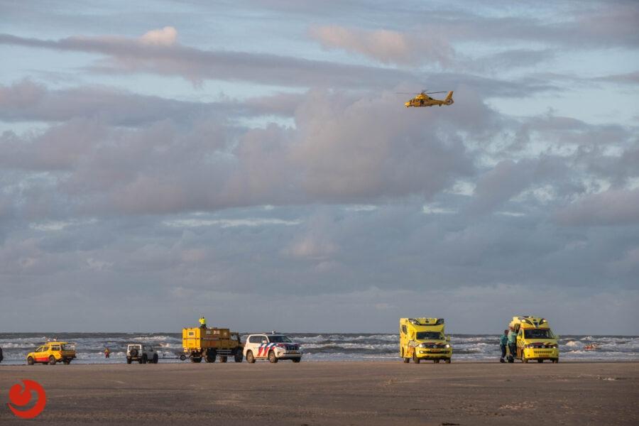 Grootschalige zoekactie naar vermiste zwemmer boven Terschelling