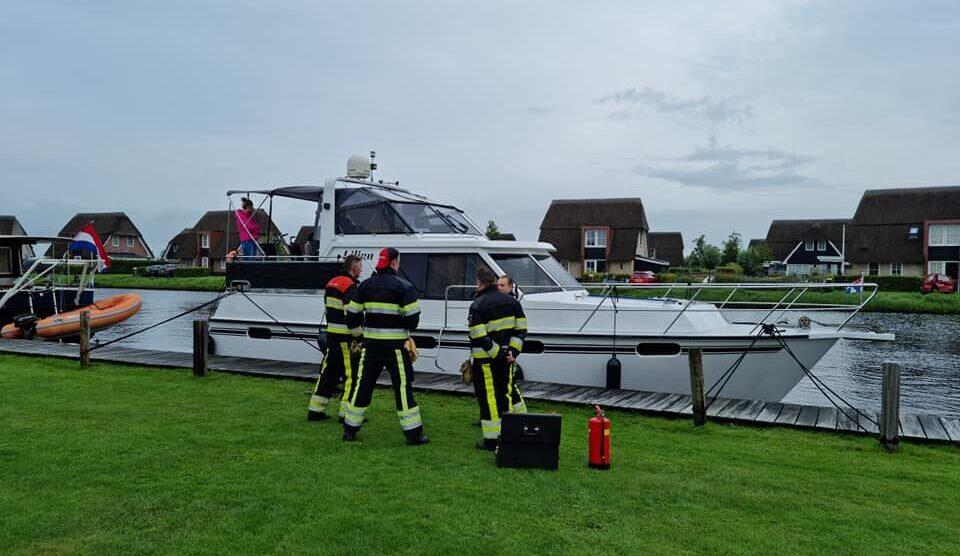 Gevaarlijke situatie op boot door accu's Echtenerbrug