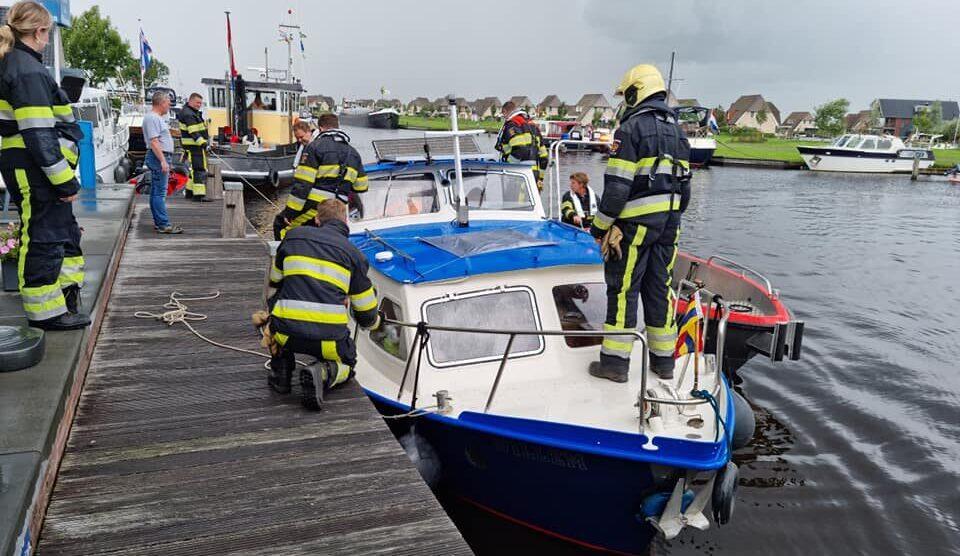 Gewonde bij scheepsbrand in Echten