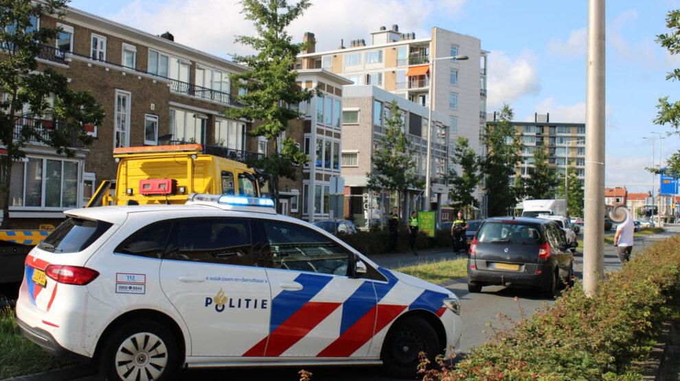 Wegafsluiting door kop-staart botsing rondweg Leeuwarden