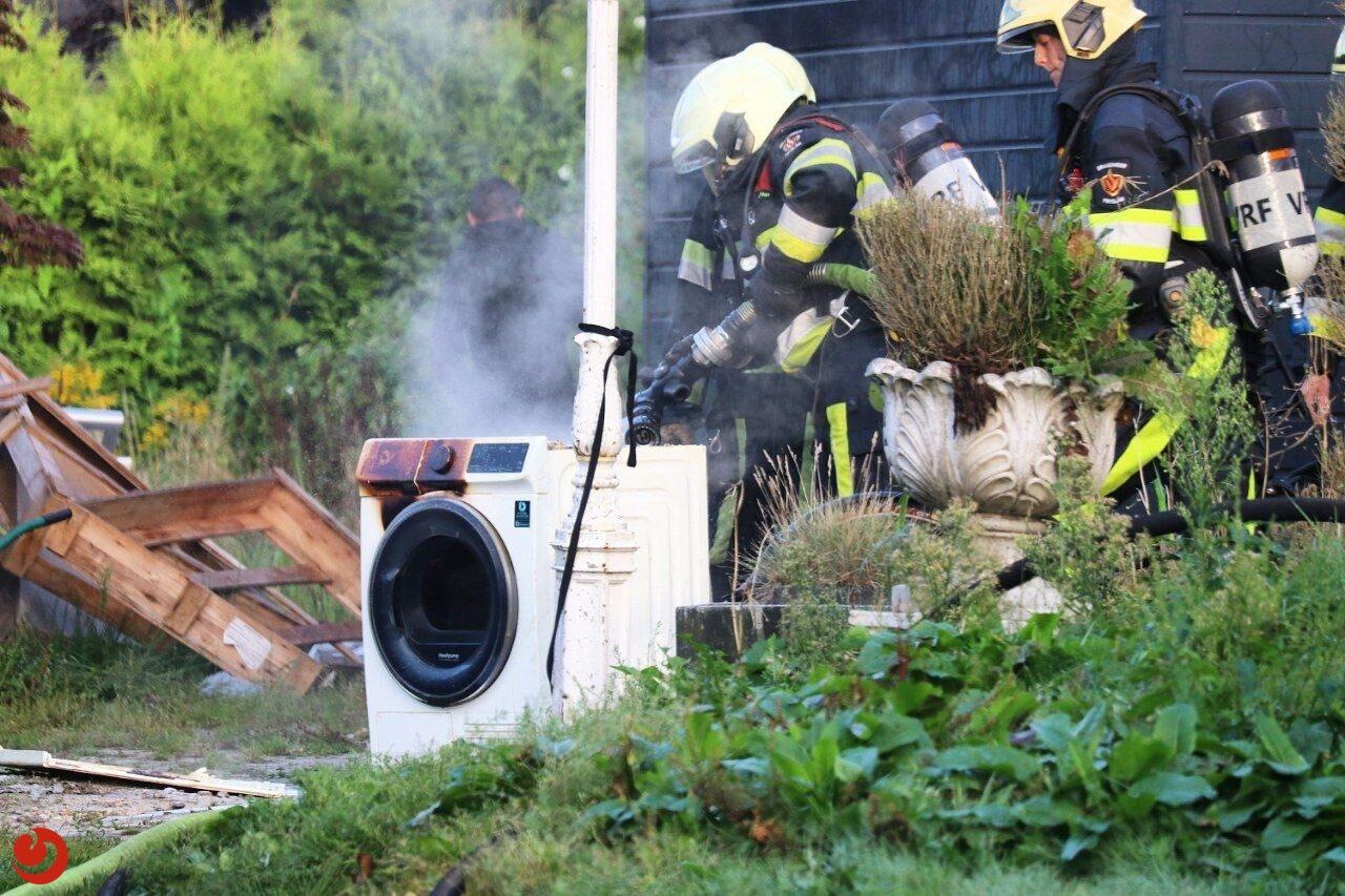 Brand in woning door wasmachine in Drachten