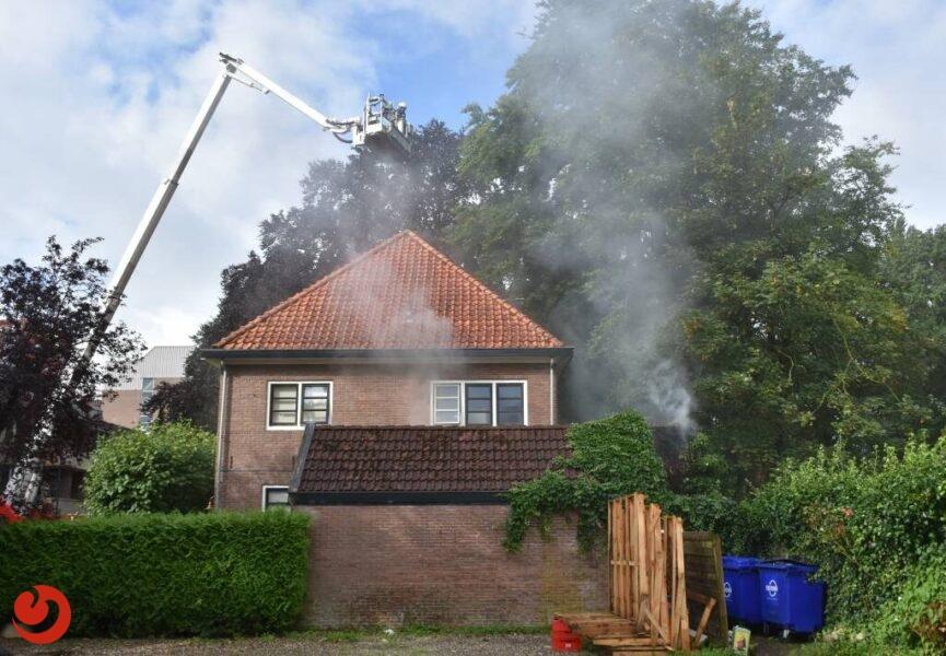 Uitslaande brand in aanbouw van woning in Heerenveen