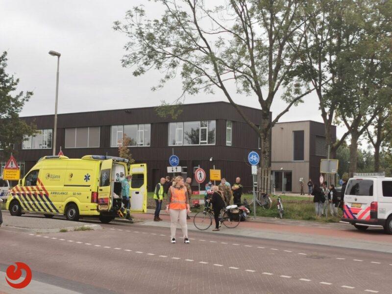 Scooterrijder gewond na botsing met fietser in Leeuwarden
