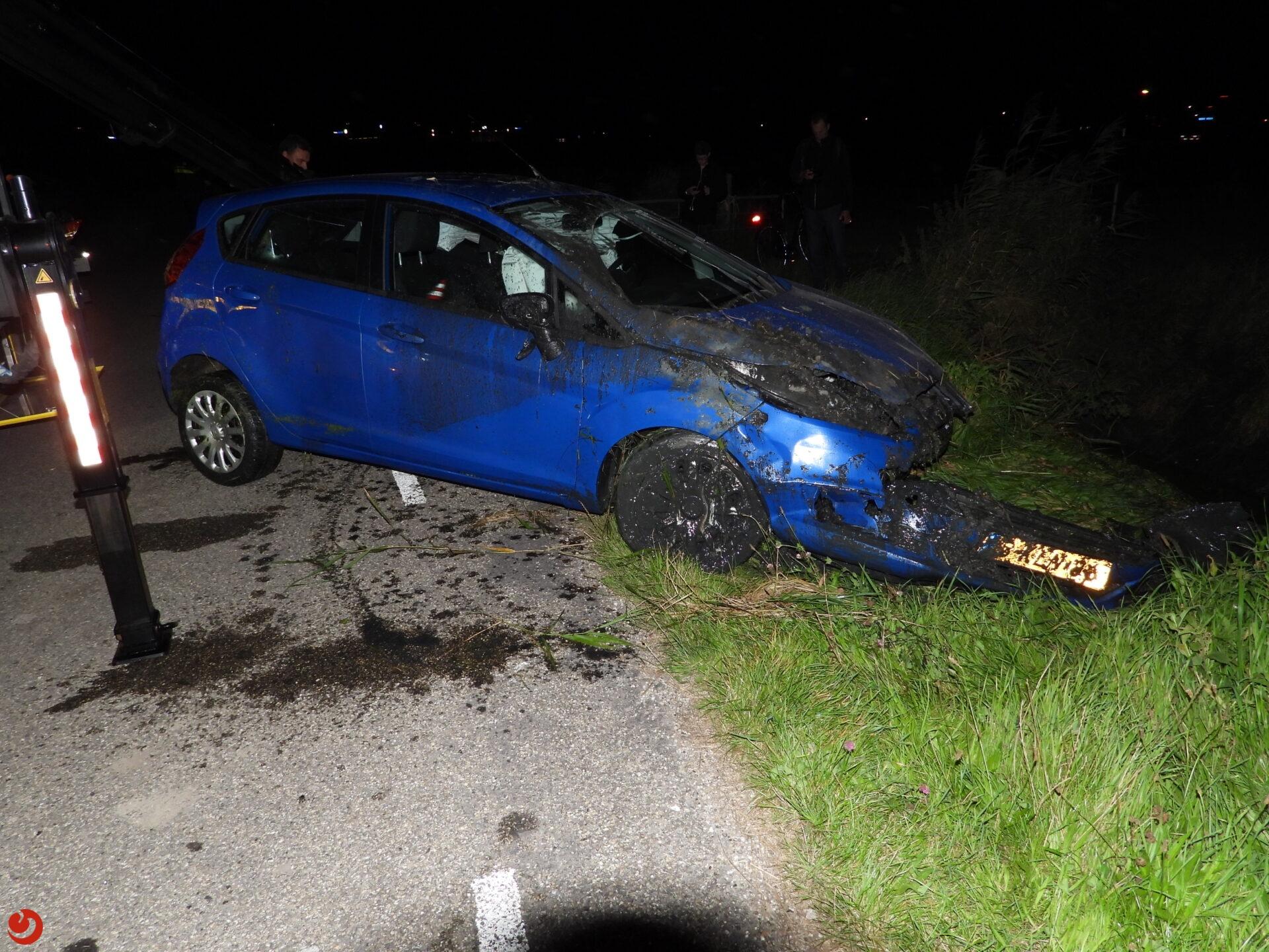 Persoon gewond bij eenzijdig ongeval in Blessum.