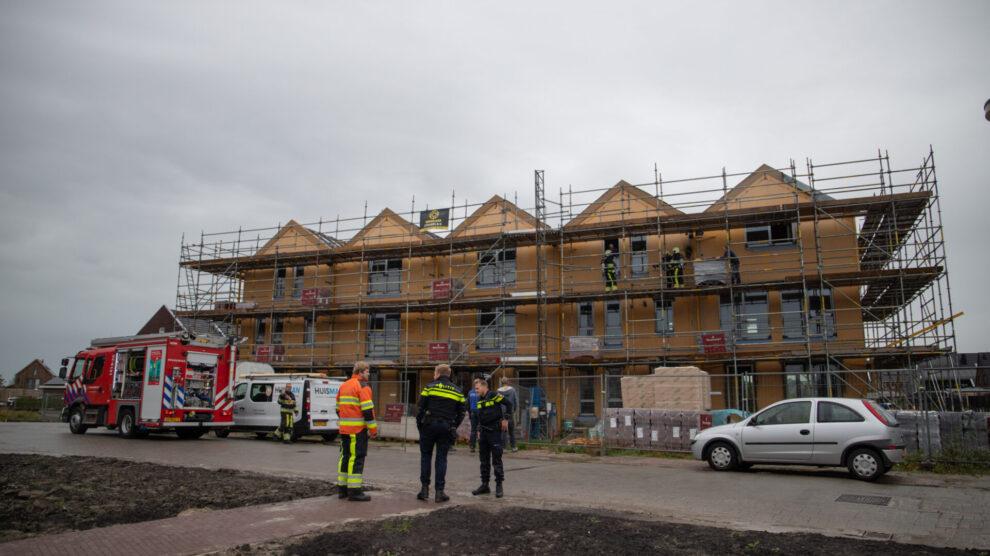 Woning in aanbouw beschadigd door brand in Leeuwarden