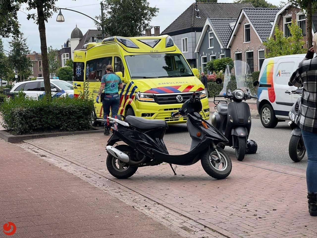 Bestuurder van scooter gewond na val in Drachten