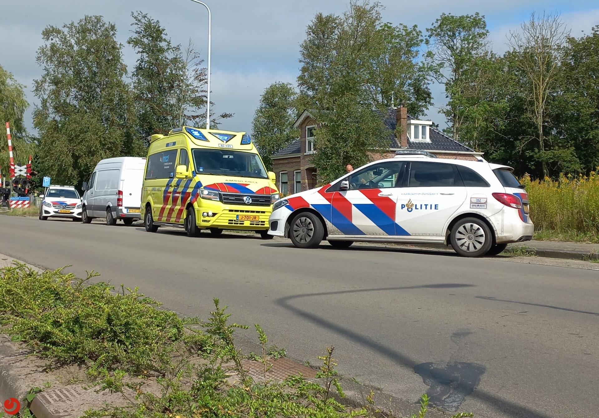 Fietser gewond na ongeval in De Westereen