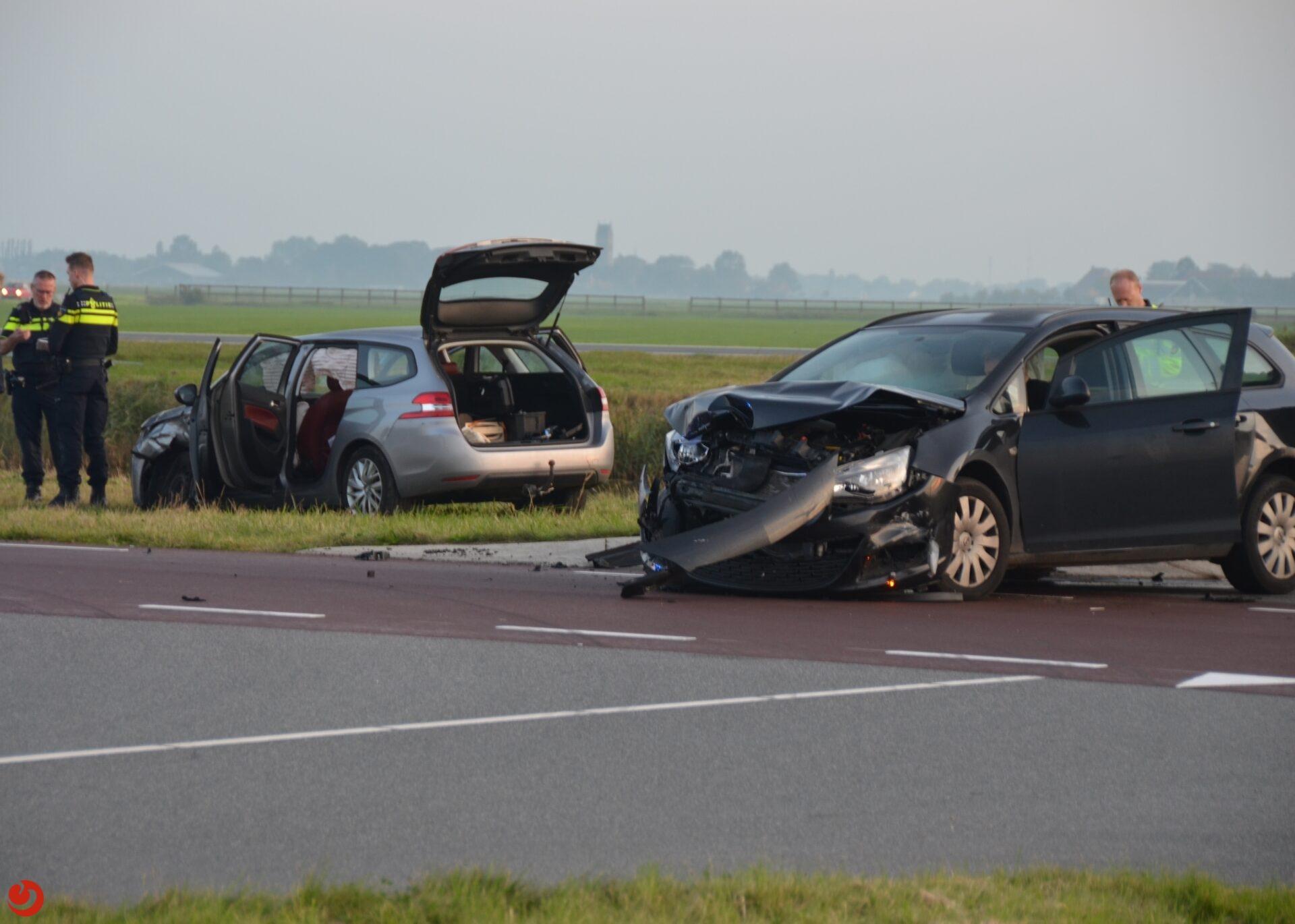 Forse schade bij ongeval Hilaard.