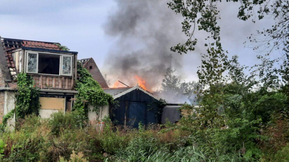 Opnieuw brand bij sloopwoningen Stadionplein Leeuwarden